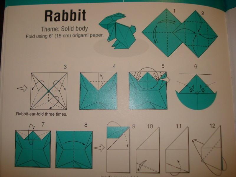 Origami Bunny Diagrams How To Fold An Origami Rabbit Origami