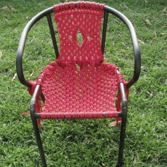 Macrame Lawn Chair Small Accent Living Room Chairs Macramé · How To Make A Knotting & On Cut Out + Keep By J0