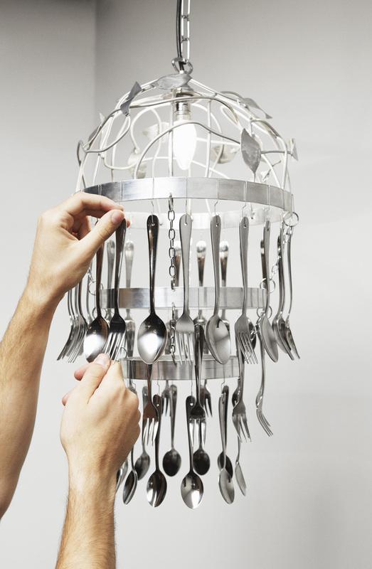 Kitchen Cutlery Chandelier Step 8