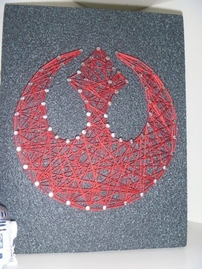 Rebel Alliance String Art  How To Make String Art  Spray Painting Woodwork and Decorating on