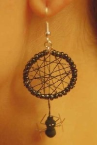 Spider Web Earrings  How To Make A Pair Of Dream Catcher ...