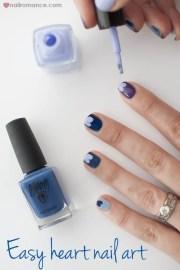 blue valentine easy heart nail