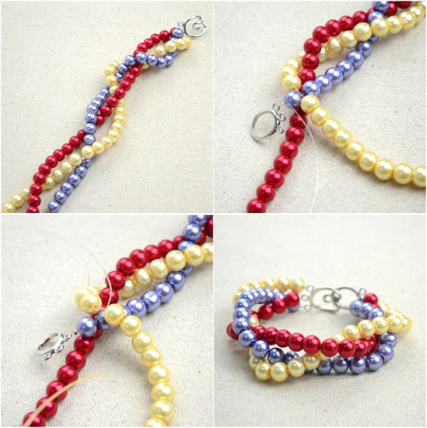 Handmade Beaded Jewelry Designs Simple Pearl Bracelet And