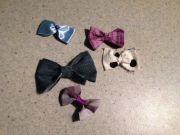 diy bows scraps of fabric