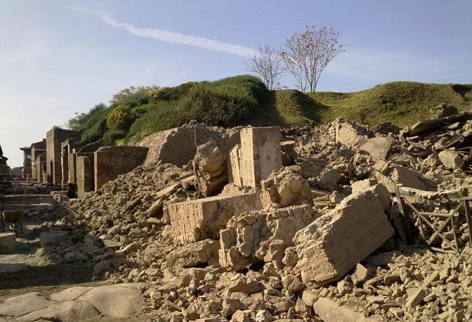 Pompei crollo della Casa del Moralista
