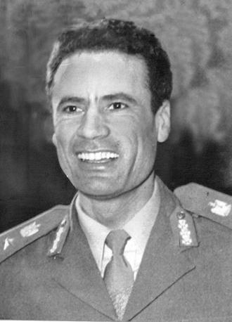 Muhammar Gheddafi nel 1970 (Ansa)