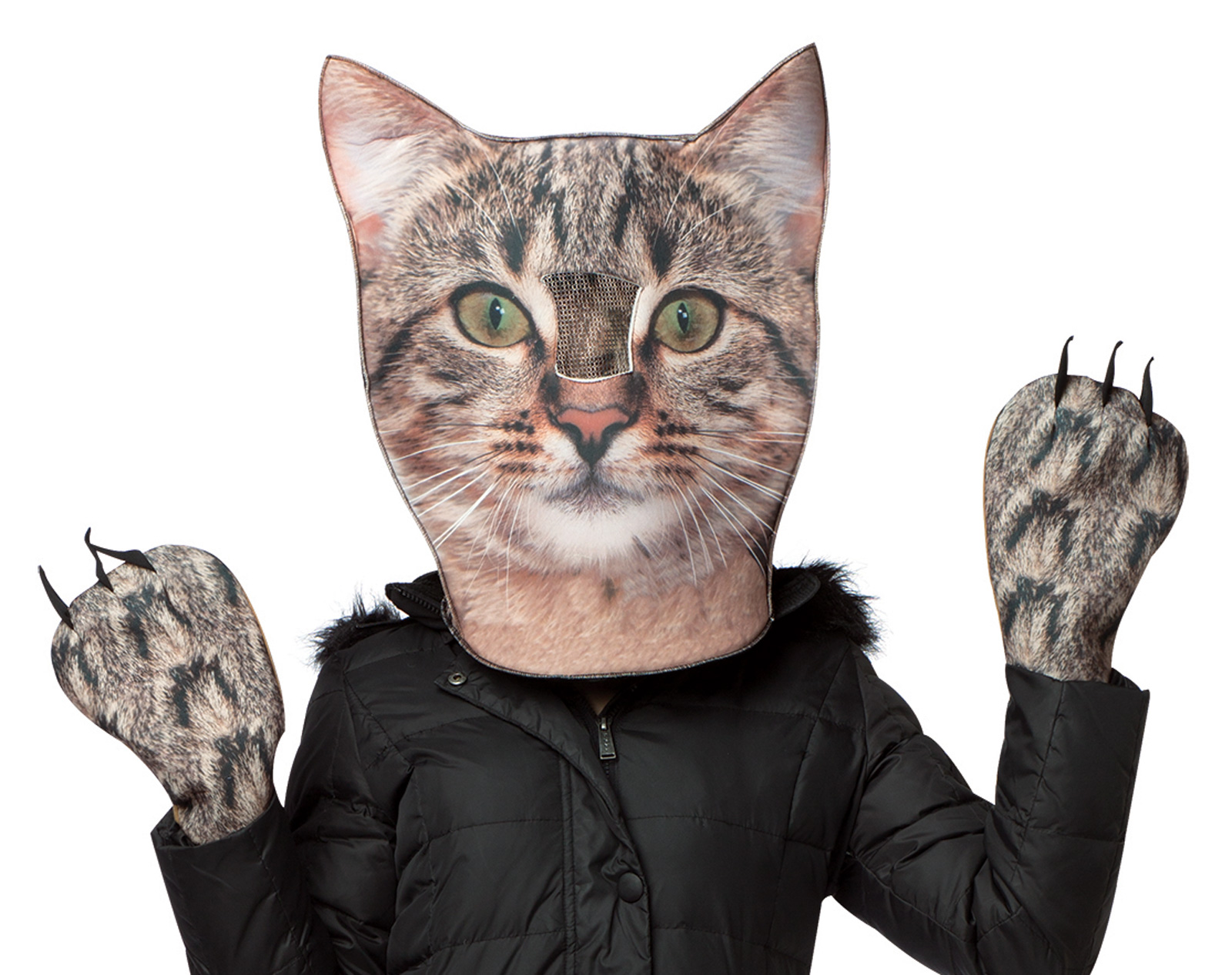 Adult Cat Head & Paws Costume