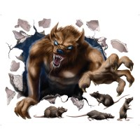 Buy Scary Werewolf Wall Decal For Halloween