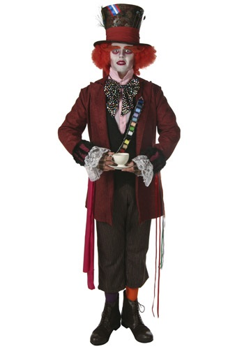 Movie Style Mad Hatter Costume Johnny Depp Mad Hatter Costumes