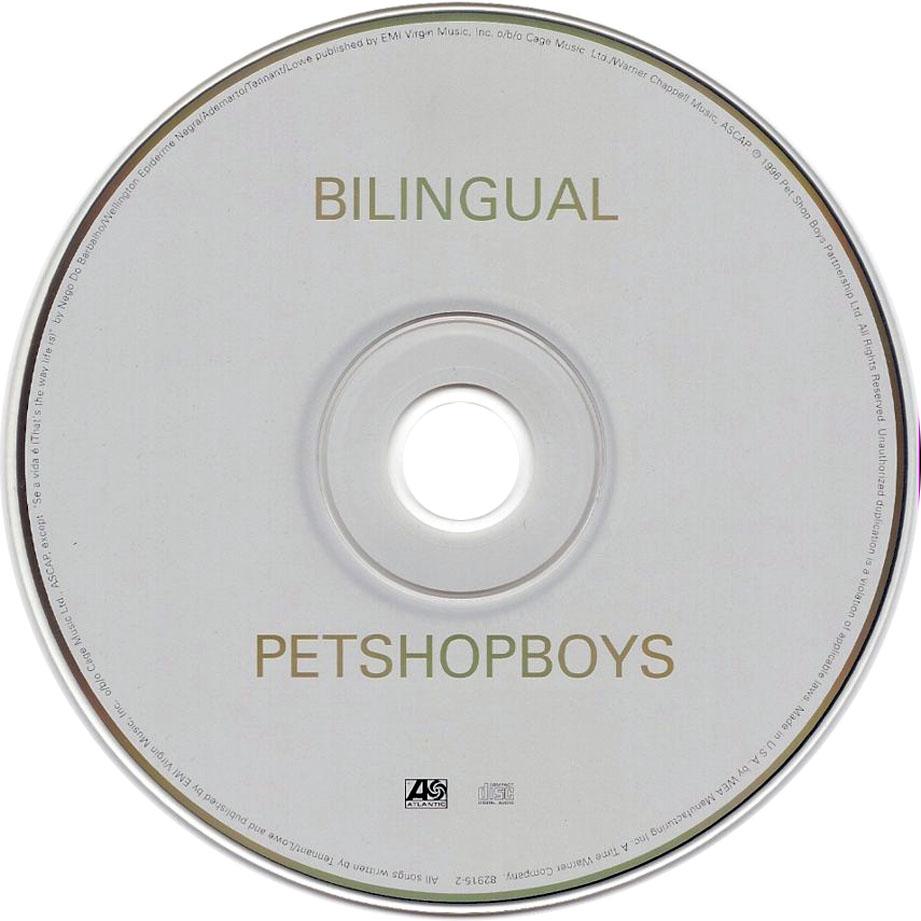 Cartula Cd de Pet Shop Boys  Bilingual  Portada
