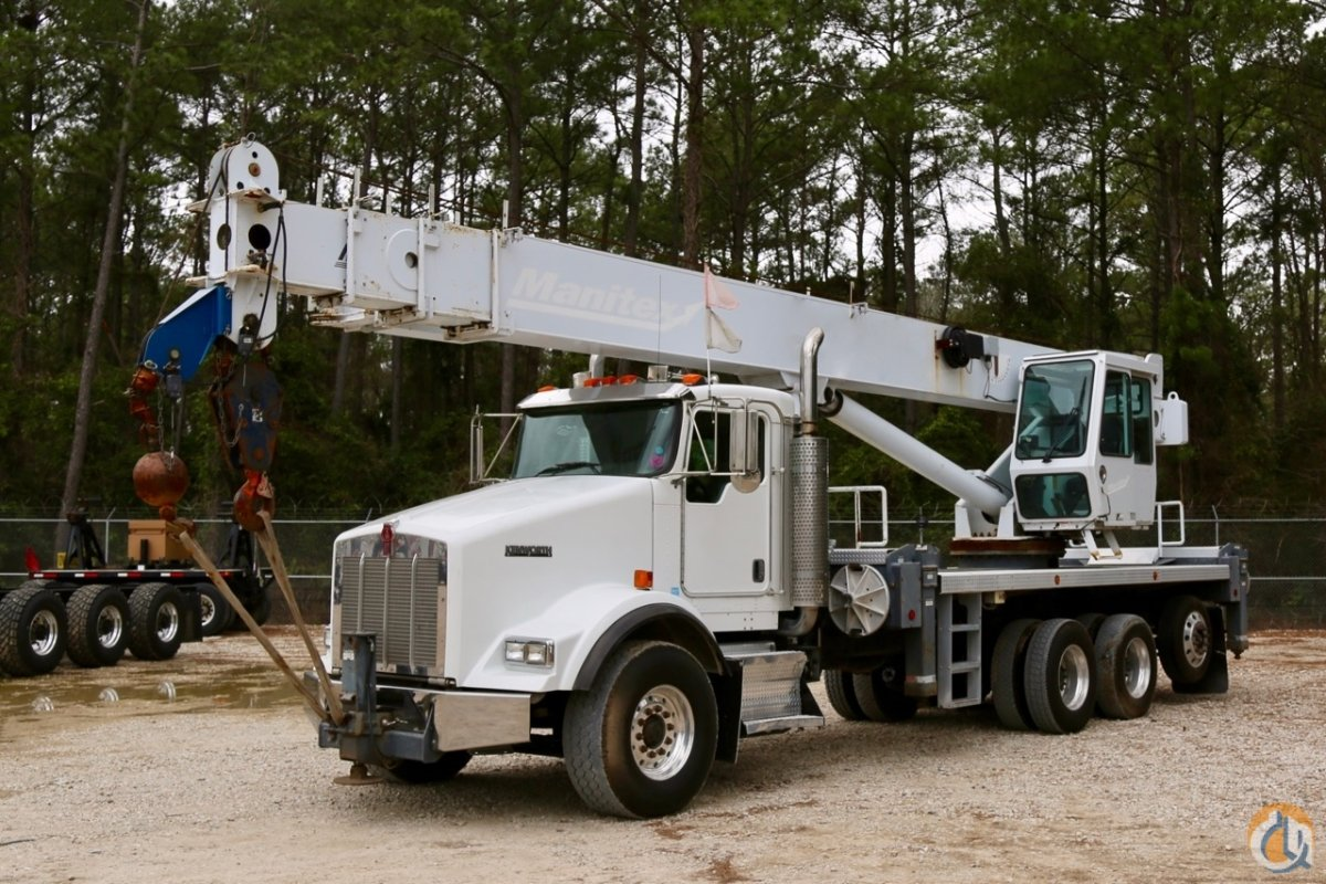 hight resolution of sold used manitex 5096s boom truck mounted to 2007 kenworth t800 chassis crane for in houston