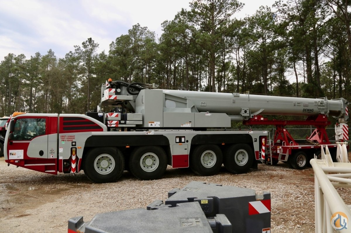 hight resolution of used 2017 demag ac100 4l all terrain crane crane for sale in houston texas on cranenetwork com