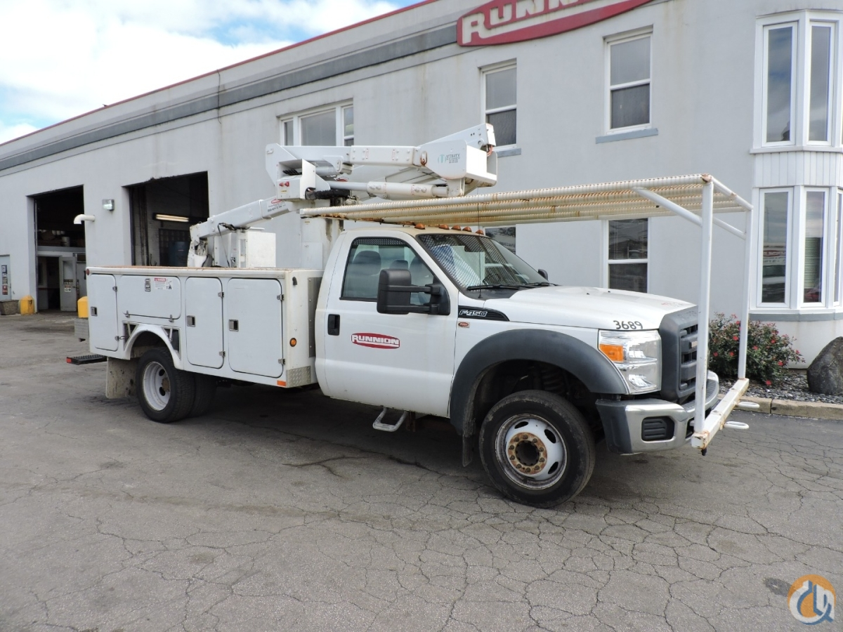 hight resolution of versalift sst37 bucket truck on 2014 ford f450 crane for sale in hodgkins illinois on cranenetwork com
