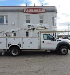 versalift sst37 bucket truck on 2014 ford f450 crane for sale in hodgkins illinois on cranenetwork com [ 1200 x 900 Pixel ]