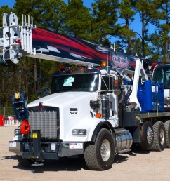 manitex 50155s mounted to 2015 kenworth t800 tri drve chassis crane for rent in haslet texas  [ 1200 x 800 Pixel ]