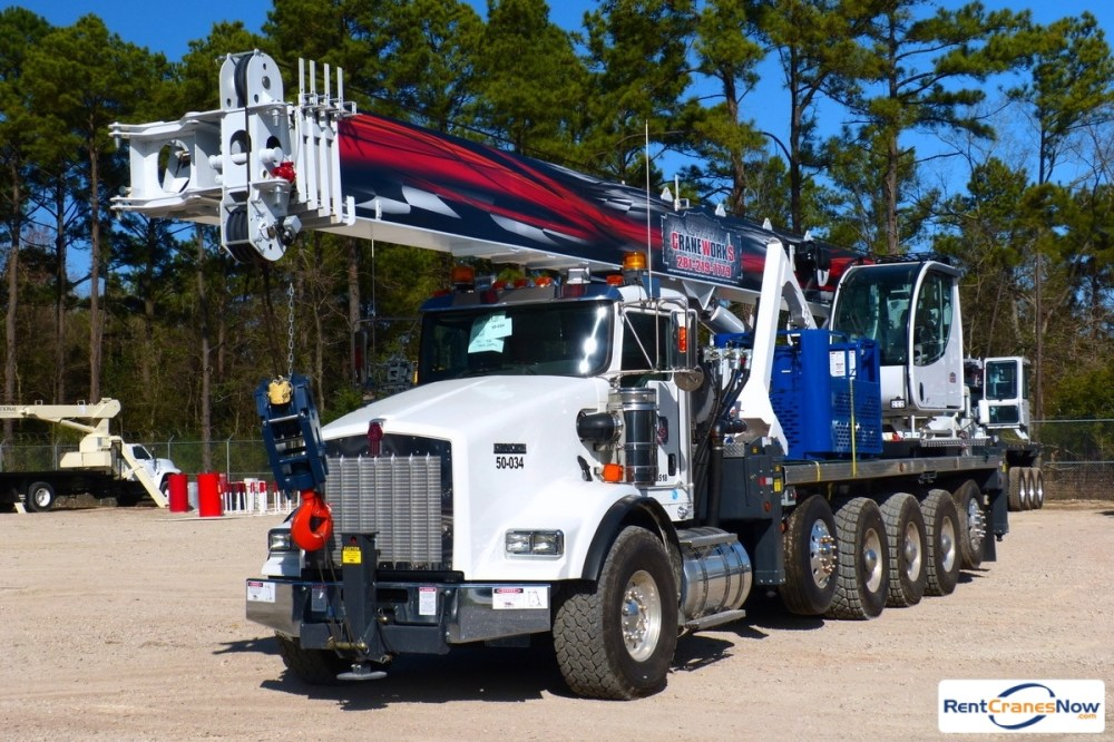 medium resolution of manitex 50155s mounted to 2015 kenworth t800 tri drve chassis crane for rent in haslet texas