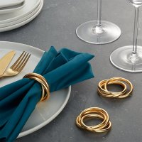 3-Ring Gold Napkin Ring | Crate and Barrel