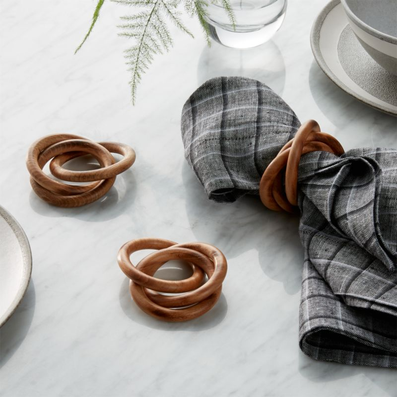 3Ring Wood Napkin Ring  Reviews  Crate and Barrel