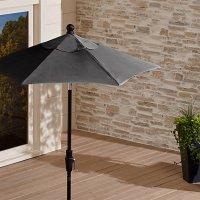 6' Round Sunbrella  Charcoal Patio Umbrella with Tilt ...