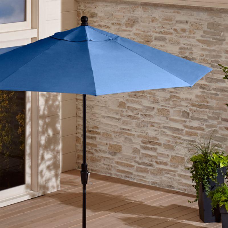 Sunbrella Blue Market Umbrella  Reviews  Crate and Barrel