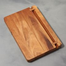 Acacia Wood Cutting Board With Knife Holder Crate And Barrel
