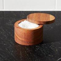 Acacia Salt Cellar | Crate and Barrel