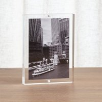 Acrylic 5x7 Block Picture Frame | Crate and Barrel