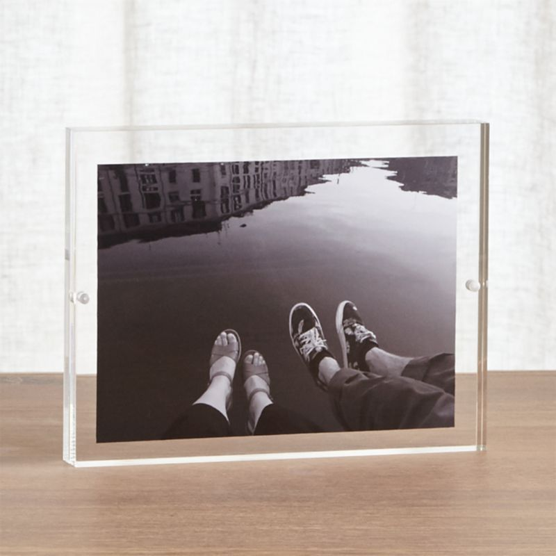 Acrylic 6x8 Block Picture Frame  Reviews  Crate and Barrel
