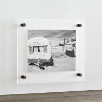 "Gunmetal 12""x14"" Floating Acrylic Wall Frame + Reviews"