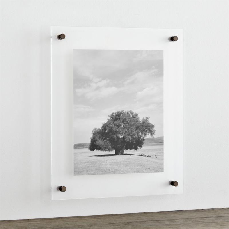 "Gunmetal 19x16"" Floating Acrylic Wall Frame + Reviews"