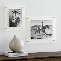 Brass Floating Acrylic Wall Frame