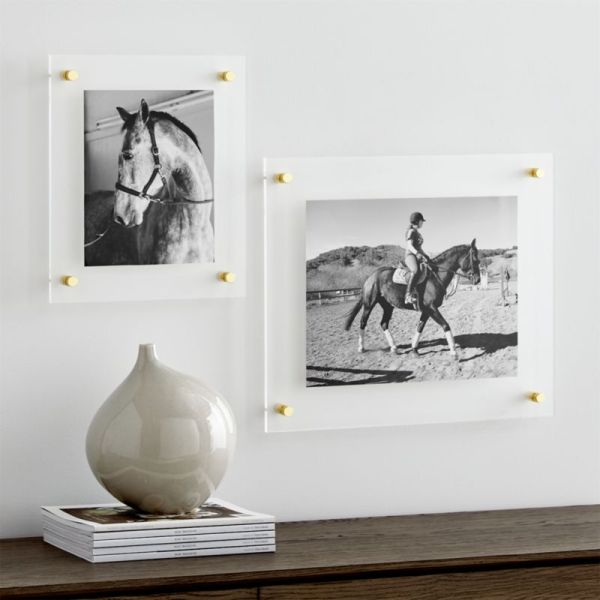 Brass Floating Acrylic Wall Frame Crate And Barrel