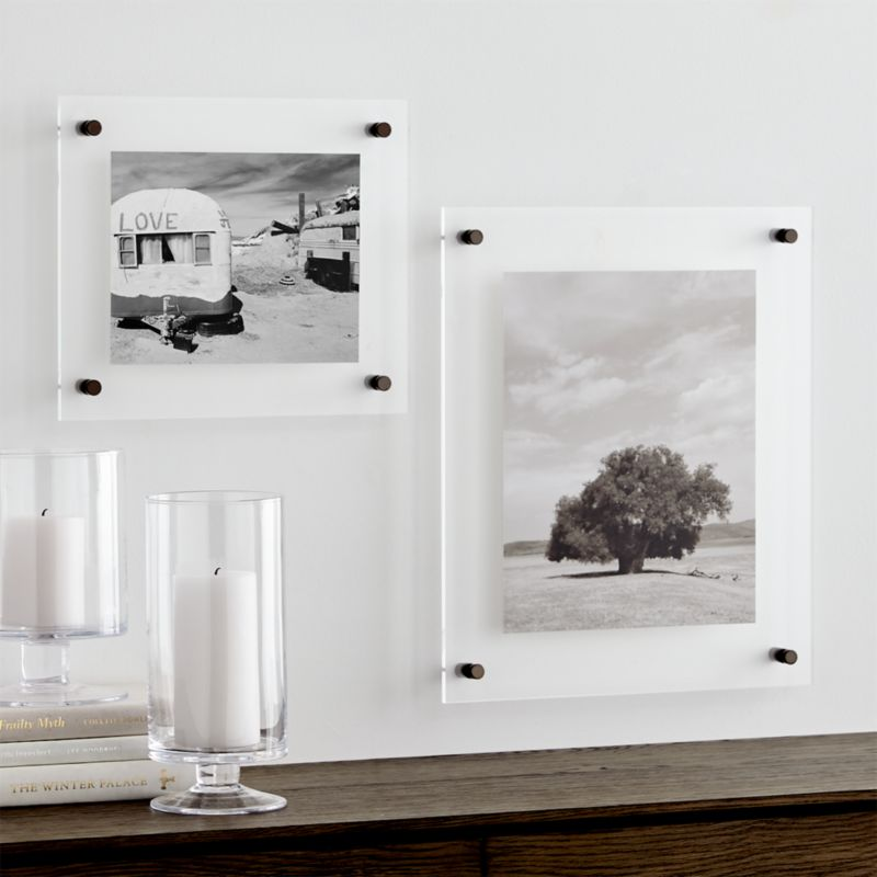 Gunmetal Floating Acrylic Wall Frame Crate And Barrel