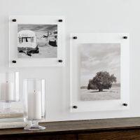 Gunmetal Floating Acrylic Wall Frame