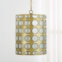 Crate And Barrel Lighting Fixtures Addison Brass Cylinder ...