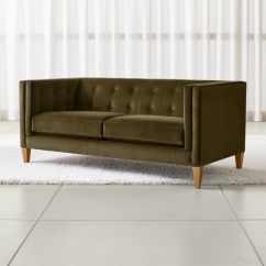 Moss Studio Sofa Reviews Throw Over Covers For Sofas Aidan Green Velvet Apartment Crate And Barrel