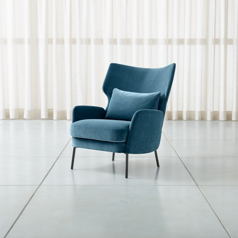 accent chair blue distressed leather club alex navy velvet reviews crate and barrel