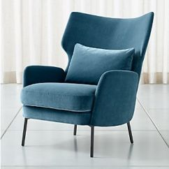 Blue Green Chair Ergohuman Accessories Living Room Chairs Accent Swivel Crate And Barrel Alex Navy Velvet