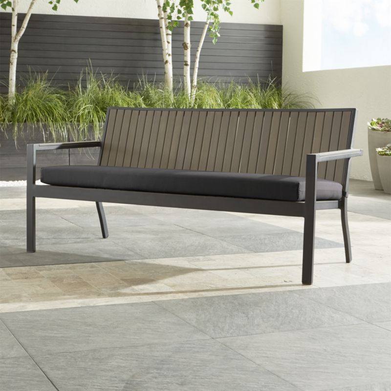 Alfresco II Grey Sofa With Charcoal Sunbrella Cushion