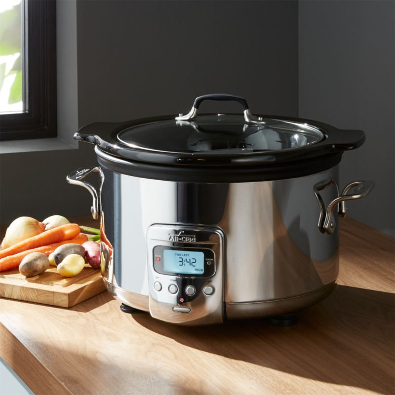 All Clad Slow Cooker 4 Quart Crock Pot  Reviews  Crate