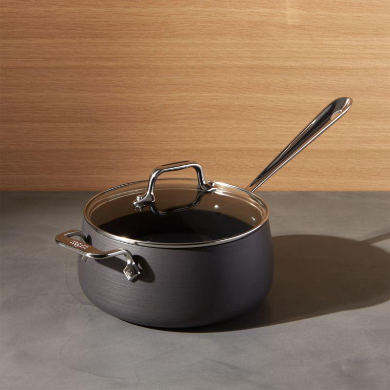 All Clad HA1 Hard Anodized Non Stick 35 Qt Sauce Pan