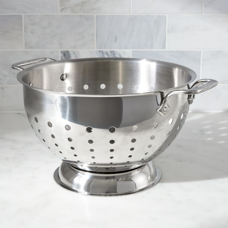AllClad 5Qt Stainless Steel Colander  Reviews  Crate