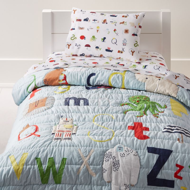 Alphabet Toddler Bedding  Crate and Barrel