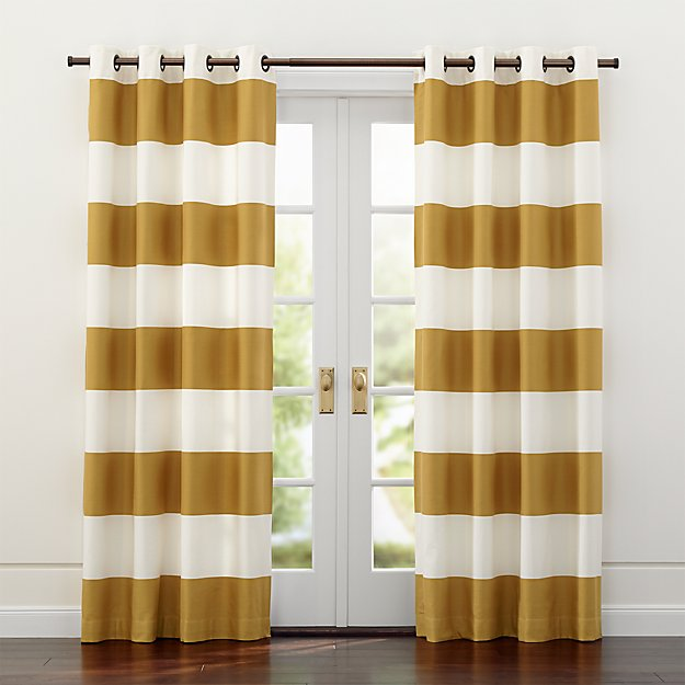 Alston Ivory Gold Curtains Crate And Barrel