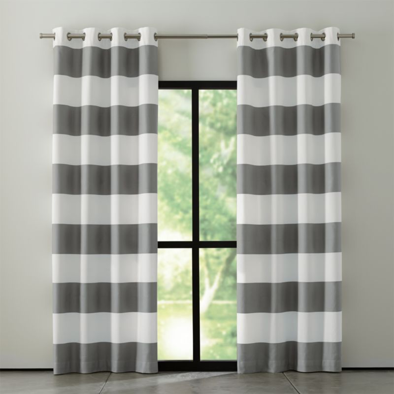Grey And White Striped Curtain Panels BestCurtains