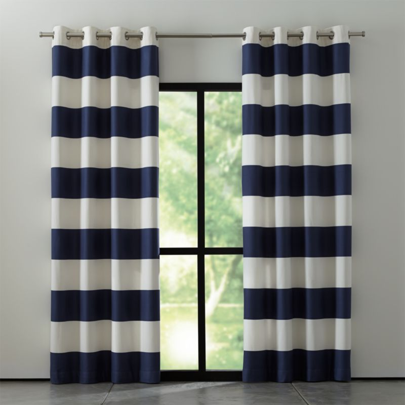 Alston Blue And White Striped Curtains Crate And Barrel