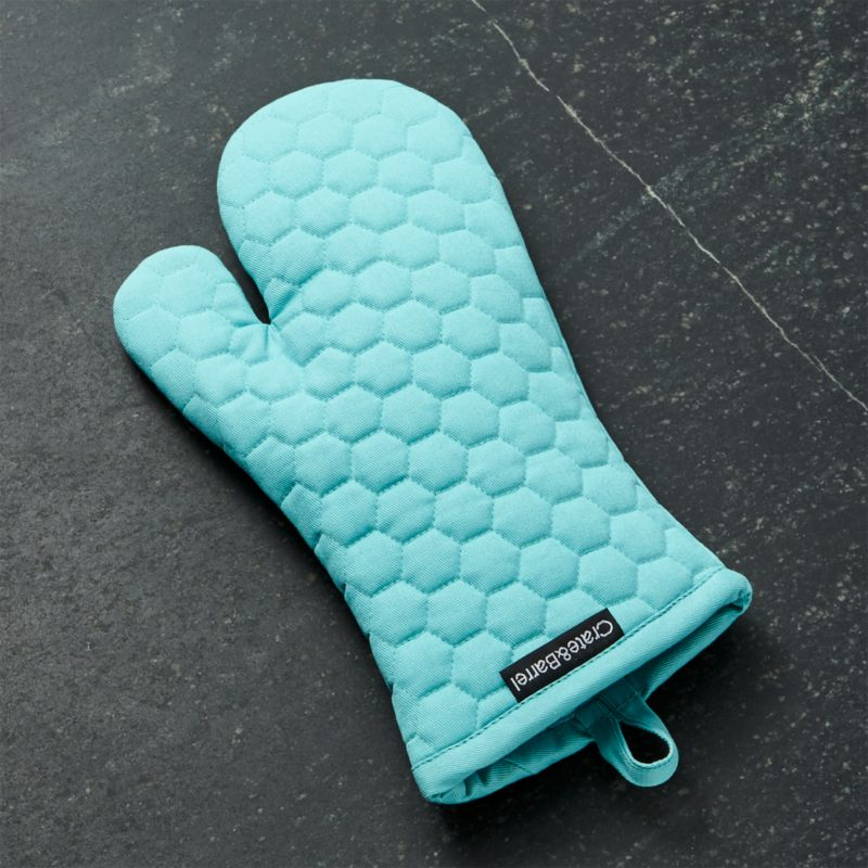 Aqua Blue Oven Mitt  Reviews  Crate and Barrel