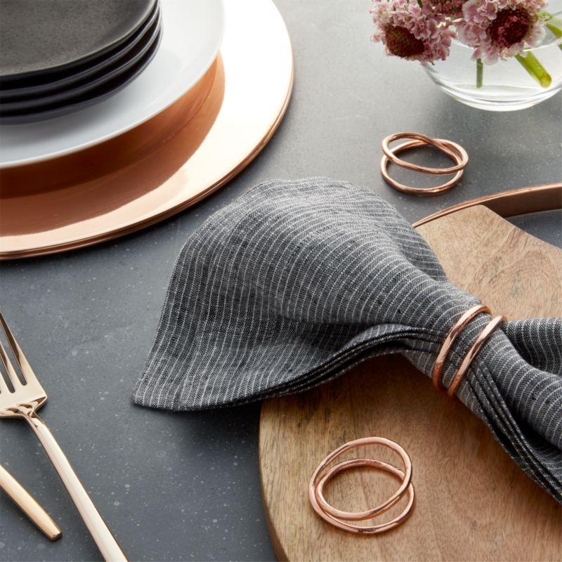 Aria Copper Napkin Ring Reviews Crate And Barrel