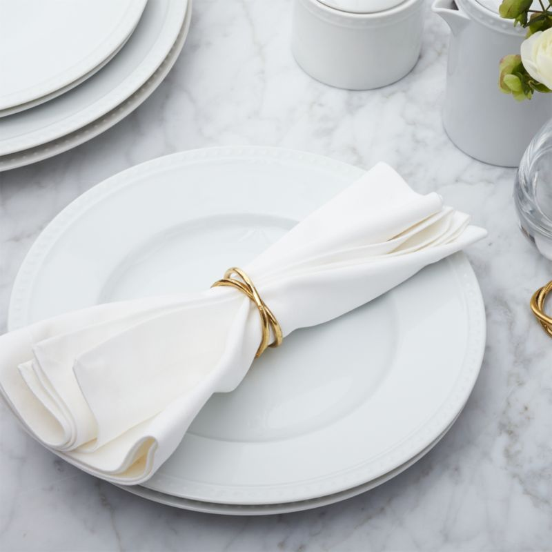 coffee shop chairs revolving chair pakistan aria gold napkin ring + reviews | crate and barrel