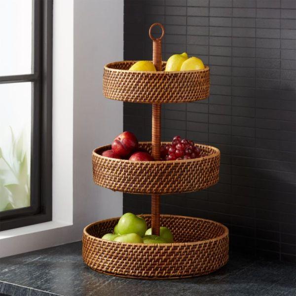 Artesia Honey 3-tier Fruit Basket Crate And Barrel